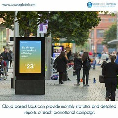 #Cloud based #kiosk can provide monthly #statistics and #detailed #reports of each #promotional #campaign. #TucanaGlobalTechnology #Manufacturer #HongKong
