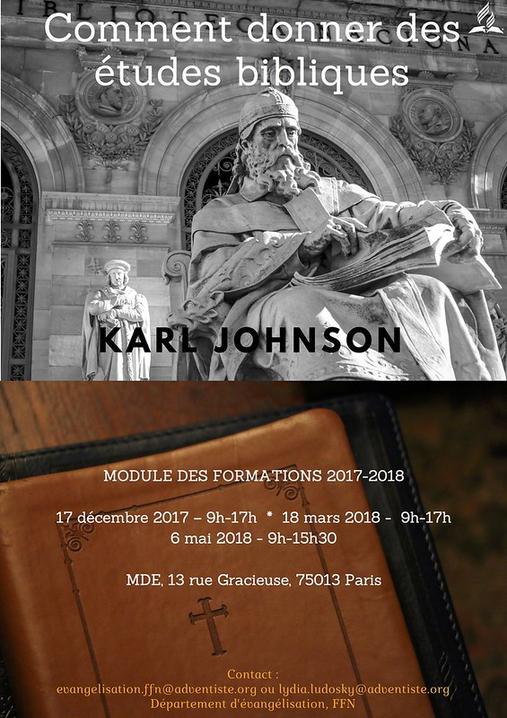 Affiche Formation Etudes Bible K Johnson
