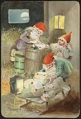 Julemotiv tegnet av Jenny Nystrøm