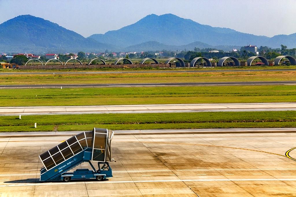 Military hangars at Noi Bai Airport--Hanoi