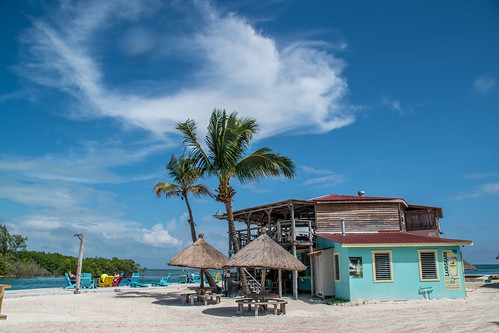 Bar at the beach 'The Split' on the Caribbean island Caye Caulker in  Belize. | by Phototravelography