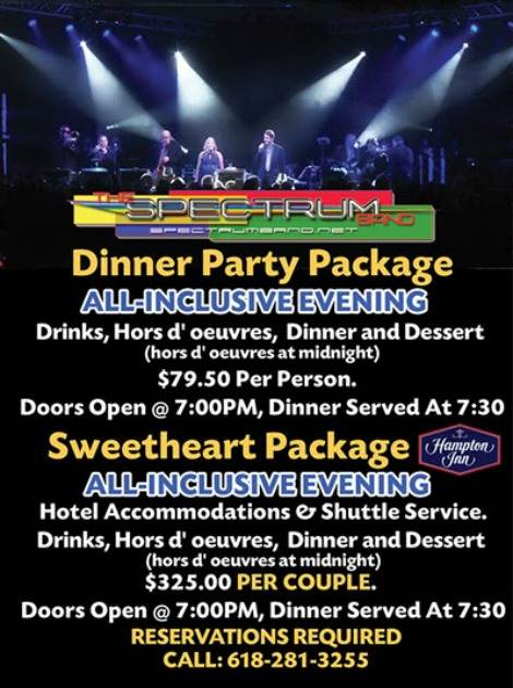Spectrum Band NYE Packages 12-31-17