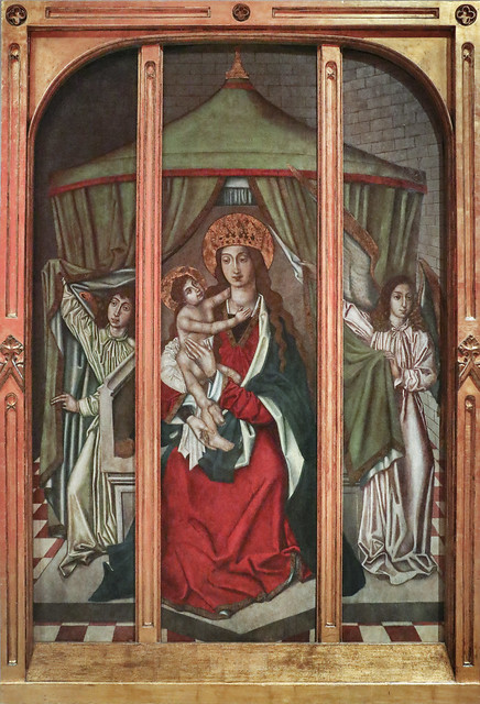 The Virgin and Child with Two Angels 1450-1500, Unknown master