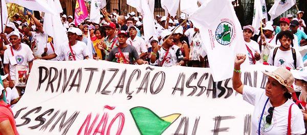 Este acto hace parte del VIII Encuentro Nacional del MAB que  se realiza en Rio de Janeiro - Créditos: Movimiento de Afectados por las Represas (MAB)