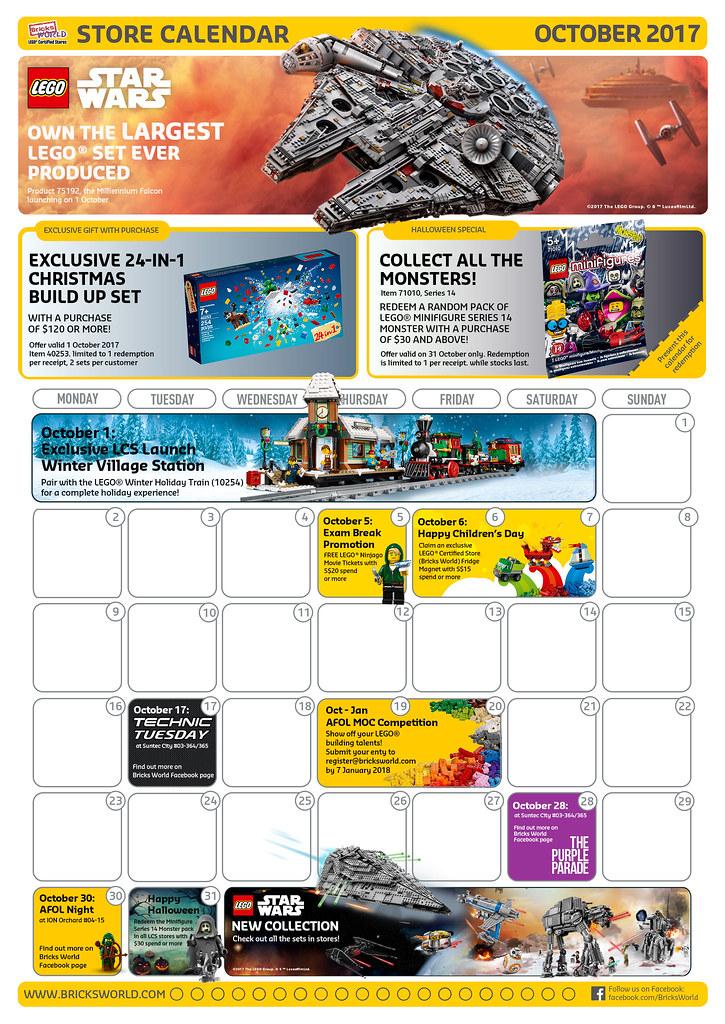 Oct BW Calendar Front