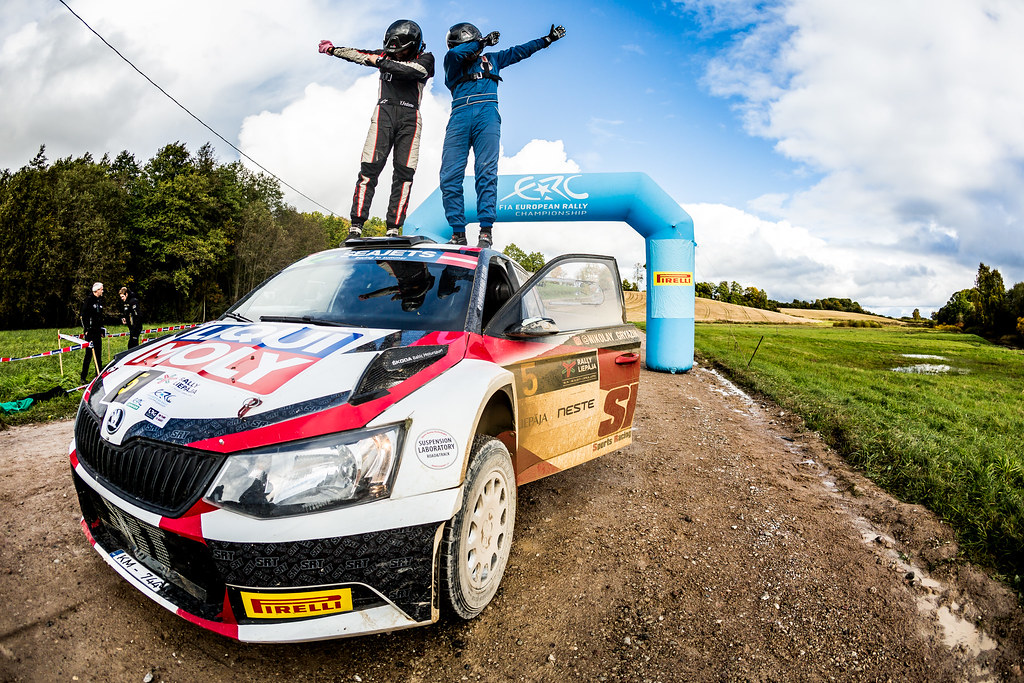 Gryazin Nikolay and Fedorov Yaroslav, Sports Racing Technologies, Skoda Fabia R5 ERC Junior U28 ambiance portrait during the 2017 European Rally Championship ERC Liepaja rally,  from october 6 to 8, at Liepaja, Lettonie - Photo Thomas Fenetre / DPPI