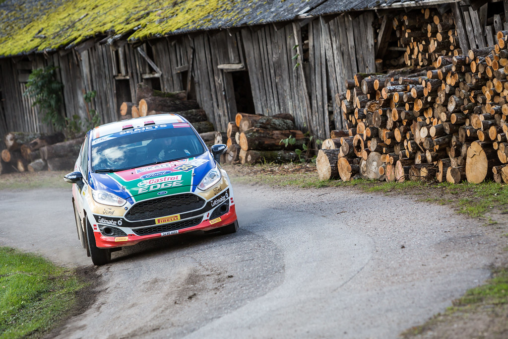 30 Bostanci Murat and Vatansever Onur, Castrol Ford Team Turkiye, Ford Fiesta R2T action during the 2017 European Rally Championship ERC Liepaja rally,  from october 6 to 8, at Liepaja, Lettonie - Photo Thomas Fenetre / DPPI