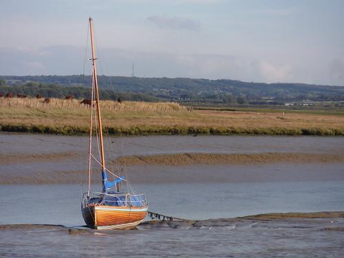 Faversham Creek at low tide