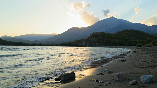 Sunset in Antic Bay near Phaselis