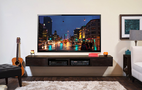 Floating TV Stand Entertainment Center - Mayan - Espresso - Woodwaves