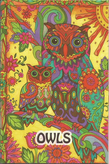 The Ivory Marble Owls Búhos Libro Para Colorear