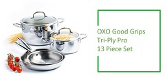 Stainless Steel Cookware Set Review : OXO Good Grips Tri-Ply Cookware Set