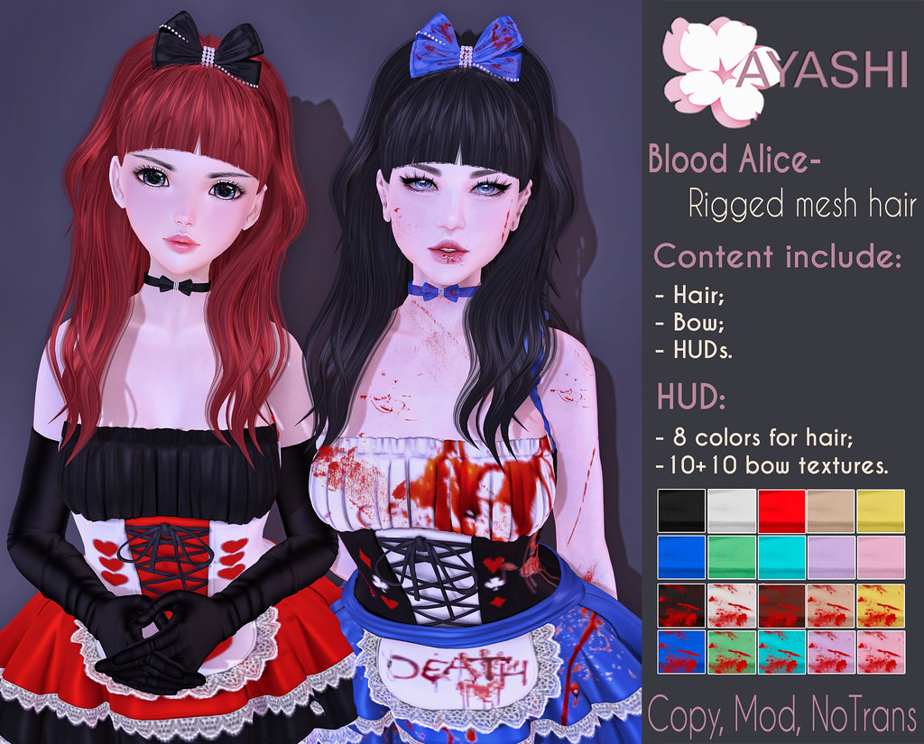 [^.^Ayashi^.^] Blood Alice hair special for The Once upon a Nightmare - TeleportHub.com Live!