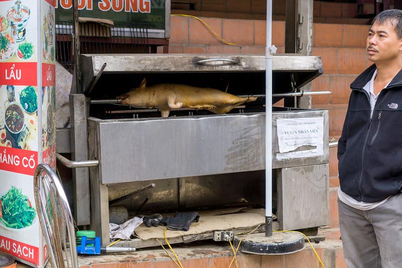 Sapa, Vietnam - pig grilling