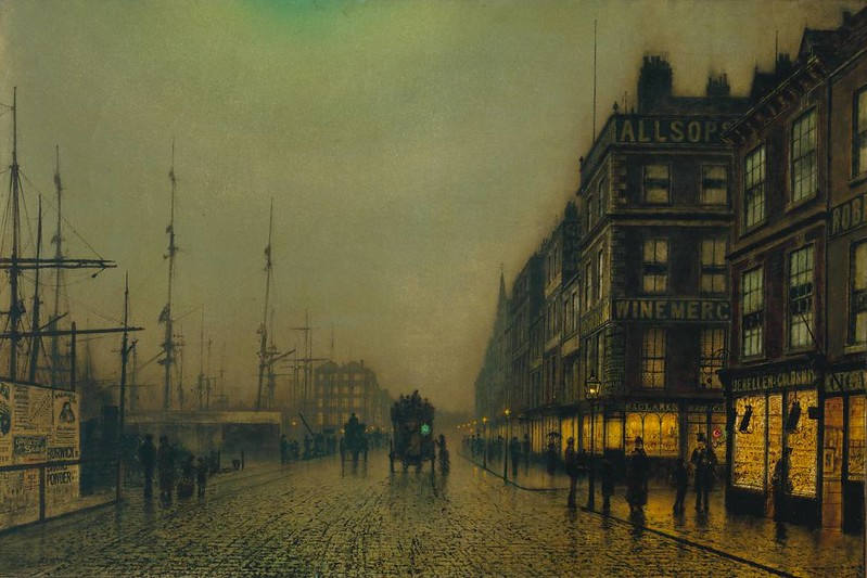 Liverpool Quay by Moonlight by John Atkinson Grimshaw, 1887