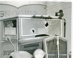 Scabs attacked in Laurel during Teamster strike: 1938