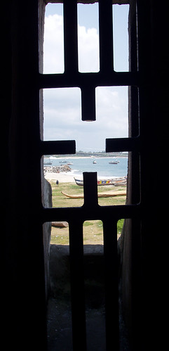 looking out to sea from the door of no return   Elmina Castle