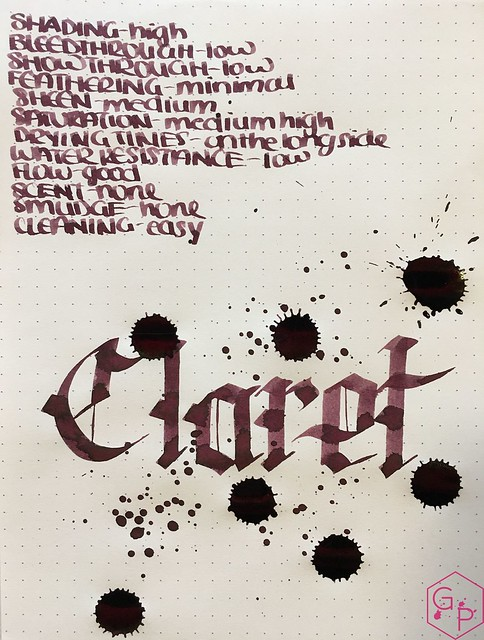 Ink Shot Review @RobertOsterInk Claret @MilligramStore 8