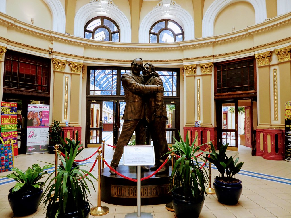 Statue of Morecambe and Wise, Winter Gardens, Blackpool