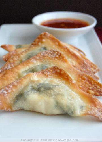 Cream Cheese Wontons | Chow Vegan