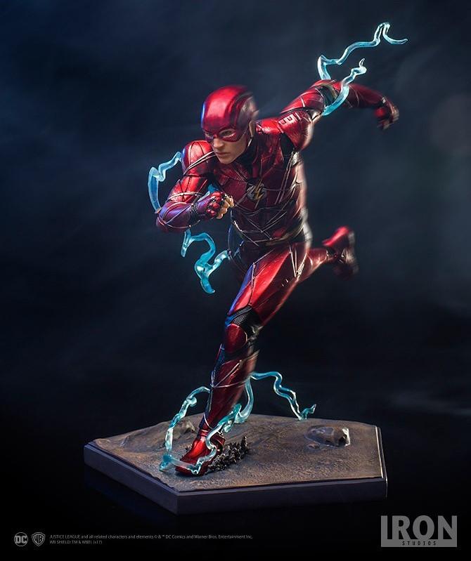 疾速奔馳的帥氣姿態立體化!! Iron Studios《正義聯盟》閃電俠 Justice League The Flash 1/10 比例全身雕像作品