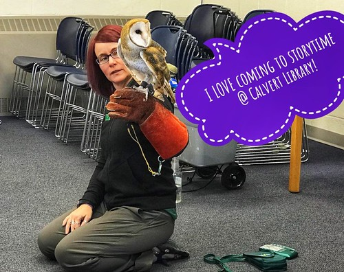 Calvert Library posted a photo:	Owl storytime @ Fairview Branch