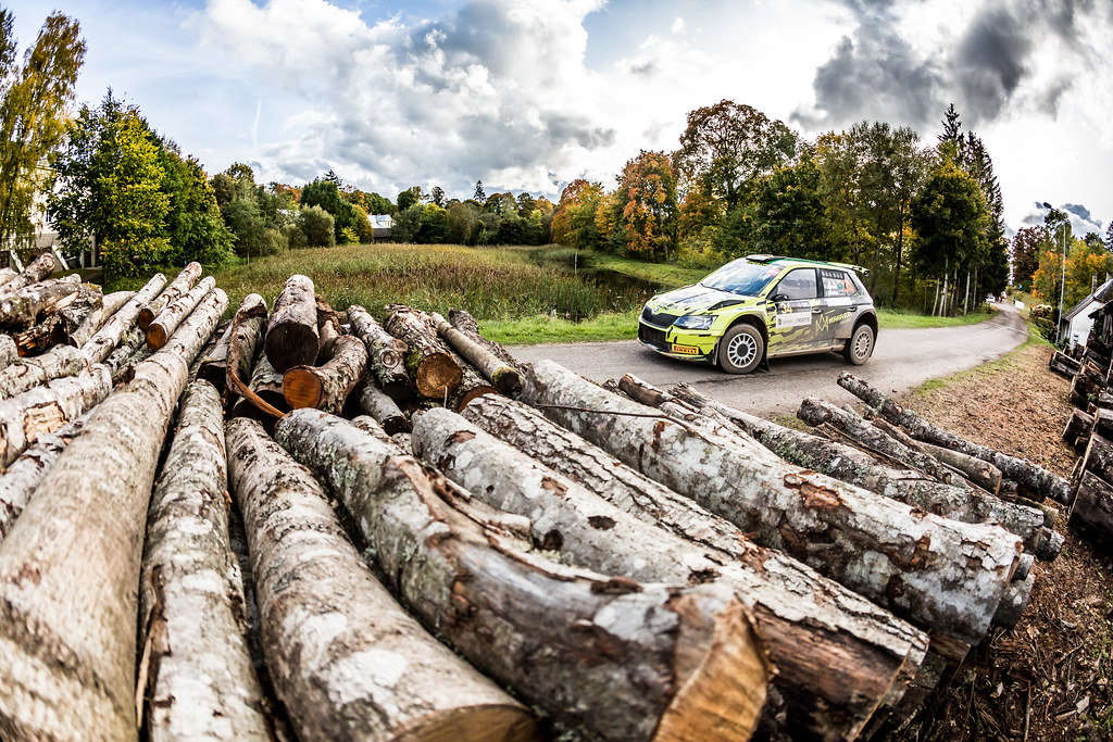 34 Al-Rashed Rakan and Kalliolepo Jarkko, TGS Worldwide OU, Skoda Fabia R5 action during the 2017 European Rally Championship ERC Liepaja rally,  from october 6 to 8, at Liepaja, Lettonie - Photo Thomas Fenetre / DPPI