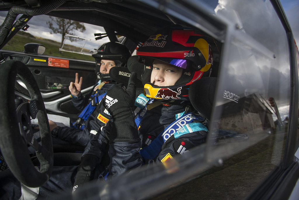 Rovanperä Kalle and Halttunen Jonne, Ford Fiesta R5 ambiance portrait during the 2017 European Rally Championship ERC Liepaja rally,  from october 6 to 8, at Liepaja, Lettonie - Photo Gregory Lenormand / DPPI