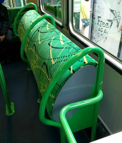 "B-class (Apollo) tram ""bum rack"" resting pads"