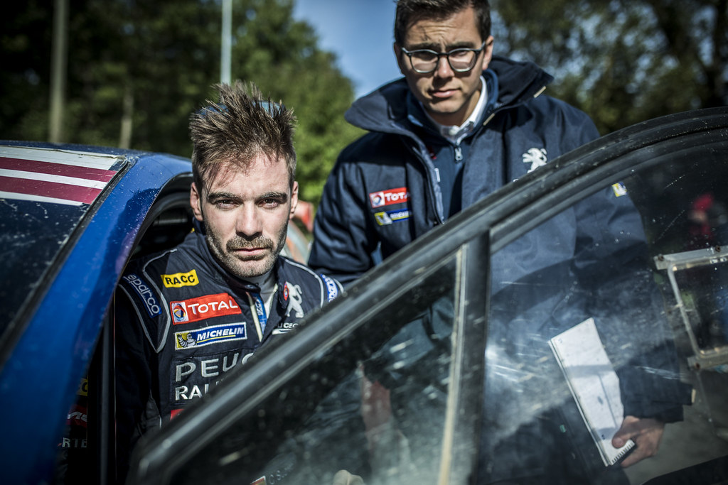 Suarez Jose Antonio and Carrera Candido, Peugeot Rally Academy, Peugeot 208 T16 ERC Junior U28 ambiance portrait during the 2017 European Rally Championship ERC Liepaja rally,  from october 6 to 8, at Liepaja, Lettonie - Photo Gregory Lenormand / DPPI