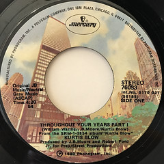 KURTIS BLOW:THROUGHOUT YOUR YEARS(LABEL SIDE-A)
