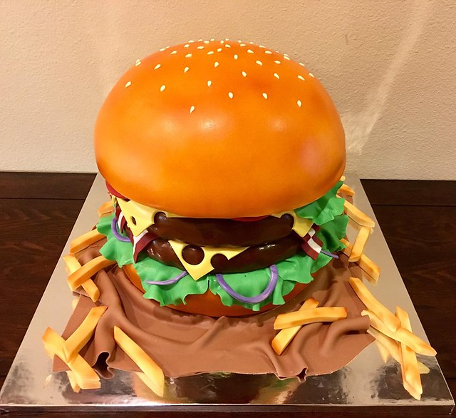 Burger Cake by Sweet Little Sumpin'