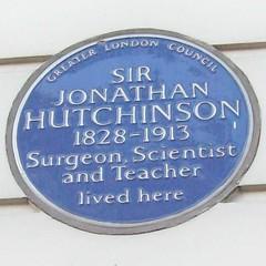 Photo of Jonathan Hutchinson blue plaque