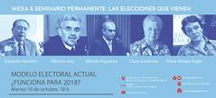 ¿Funciona el modelo electoral actual para 2018?: mesa de discusión (Foto)