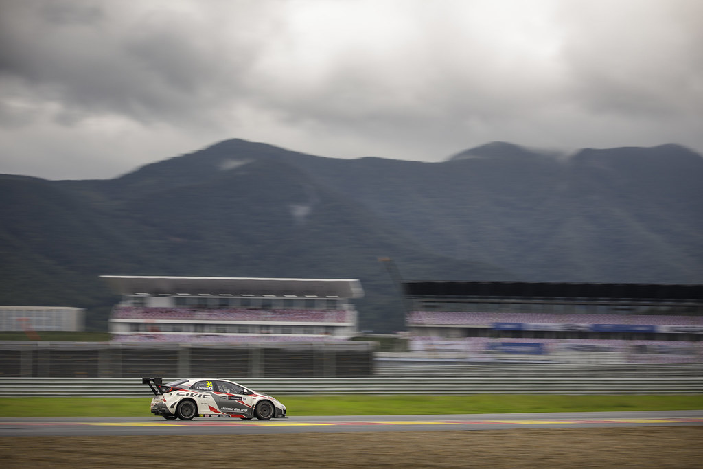 34 MICHIGAMI Ryo (jpn) Honda Civic team Honda racing team Jas action   during the 2017 FIA WTCC World Touring Car Championship at Ningbo, China, October 13 to 15 - Photo Frederic Le Floc'h / DPPI