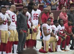 San Francisco 49ers National Anthem Kneeling