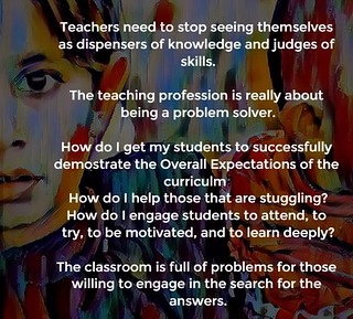 """Educational Postcard: """"The teaching profession is really about being a problem solver."""""""