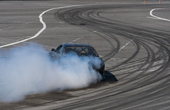 Drift car brand Nissan overcome turn track