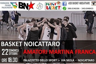 Noicattaro. Basket vs Martina front