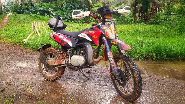 Rainy season is mud season. Time to put on some knobbies.