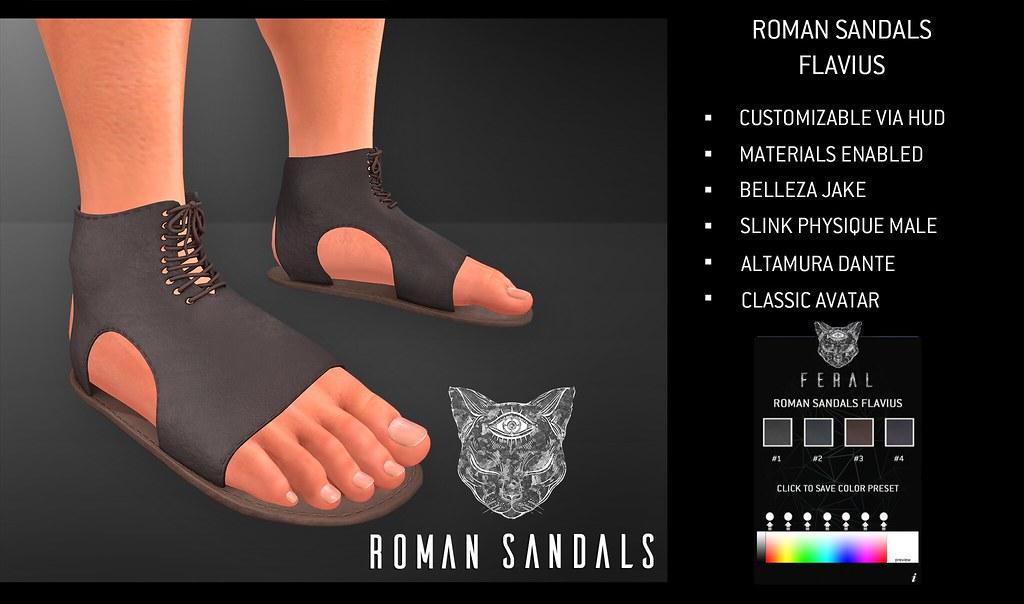Feral - RomanSandals Flavius - TeleportHub.com Live!