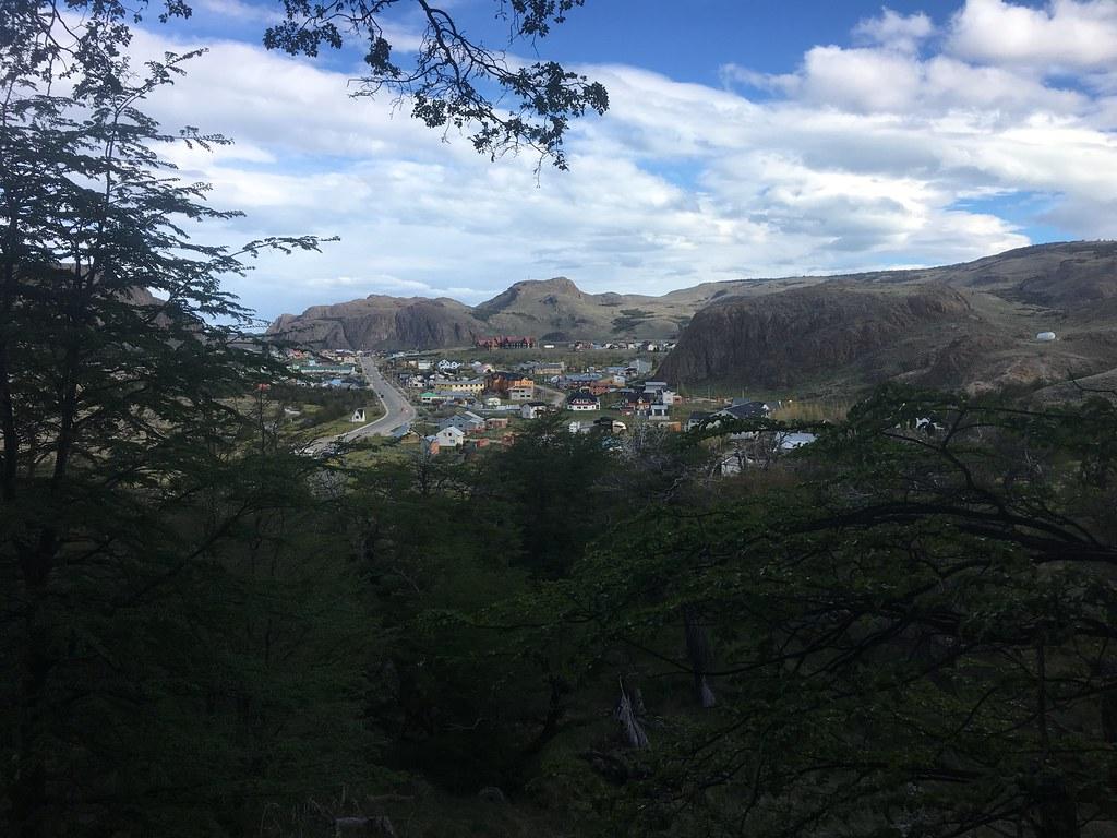 El Chaltén from the trail