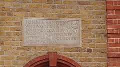 Photo of John Singer Sargent stone plaque