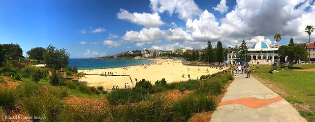 Coogee Beach, from Dunningham Reserve, Coogee, Sydney, NSW