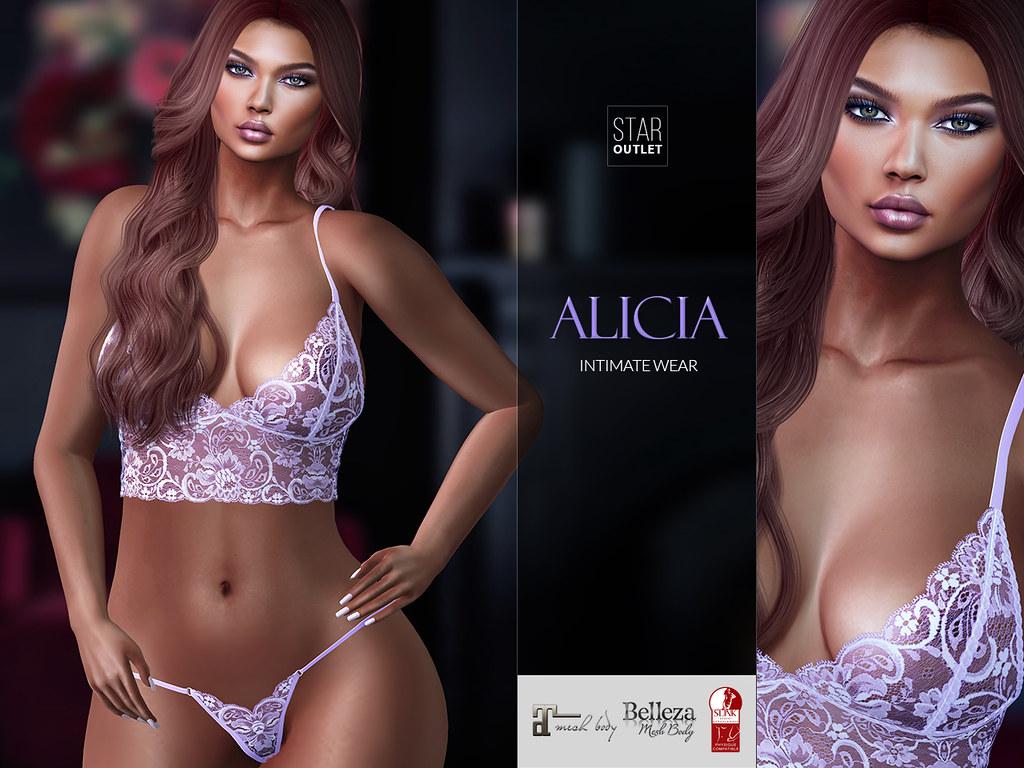 Star Outlet Lingerie Alicia Lavender (Maitreya, Slink, Belleza) - TeleportHub.com Live!