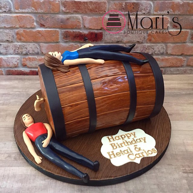 Beer Barrel Cake by Mari's Boutique Cakes