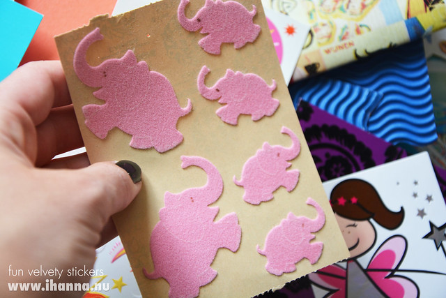 Pink Velvet Elephant Stickers by iHanna, a childhood memory lane ticket - photo copyright by Hanna Andersson