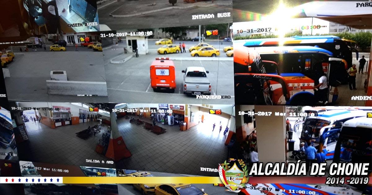 Terminal terrestre cuenta con sistema cerrado de cámaras de seguridad