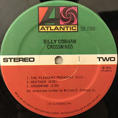 BILLY COBHAM:CROSSWINDS(LABEL SIDE-B)