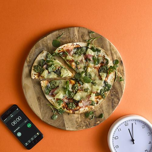 Hawaiian tortilla pizza